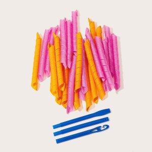 Разноцветные Бигуди 26 шт SHEIN. Цвет: многоцветный