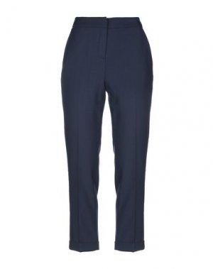 Повседневные брюки CLIPS MORE. Цвет: темно-синий