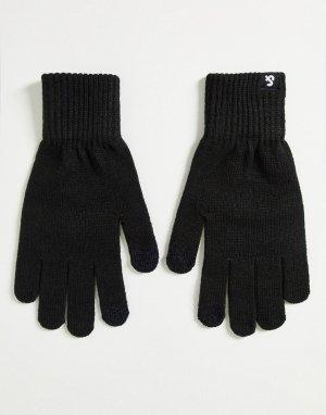 Черные трикотажные перчатки для сенсорных устройств -Черный цвет Jack & Jones