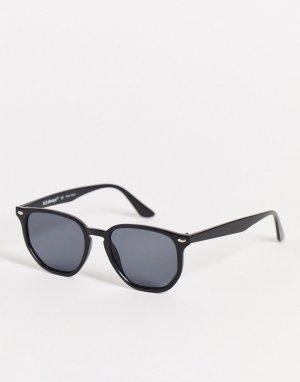 Круглые солнцезащитные очки черного цвета в стиле ретро унисекс -Черный цвет AJ Morgan