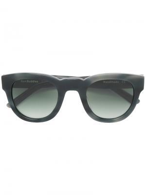 Солнцезащитные очки с оправой кошачий глаз Sun Buddies. Цвет: серый