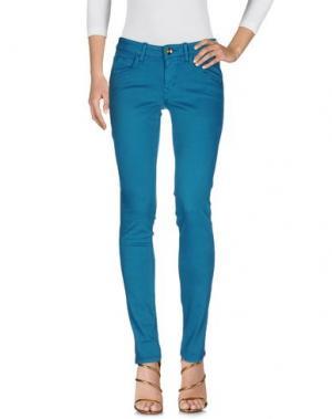Джинсовые брюки FORNARINA. Цвет: цвет морской волны