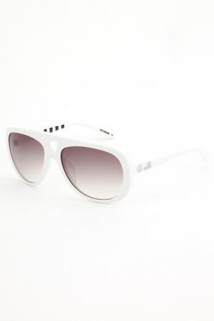 Солнцезащитные очки Love Moschino. Цвет: белый