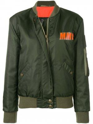 Куртка-бомбер с логотипом Mr & Mrs Italy. Цвет: зеленый