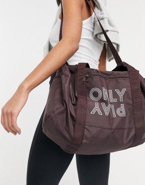 Коричневая спортивная сумка с логотипом Nia-Коричневый цвет Only Play