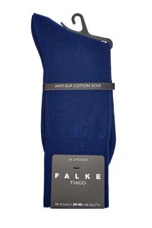 Высокие носки из гладкого хлопка в синем оттенке FALKE. Цвет: синий