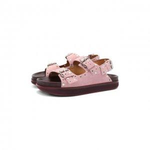 Замшевые сандалии Ophie Isabel Marant. Цвет: розовый