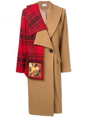 Пальто с контрастными деталями Au Jour Le. Цвет: нейтральные цвета