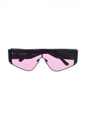 Солнцезащитные очки Carlijn с логотипом The Attico. Цвет: черный