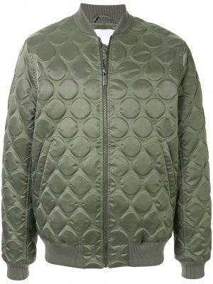 Стеганая куртка-бомбер Ports V. Цвет: зеленый