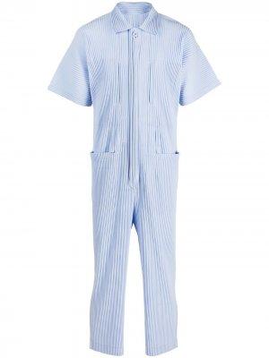 Short-sleeve boiler suit Homme Plissé Issey Miyake. Цвет: синий