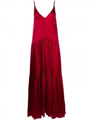 Платье макси с заниженной талией Forte. Цвет: розовый