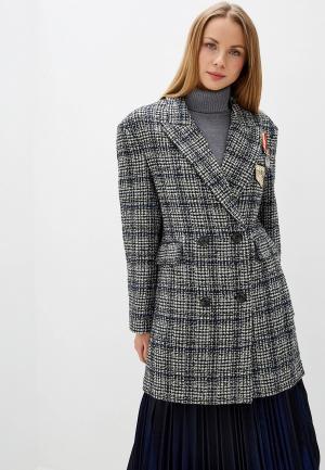 Пальто Silvian Heach. Цвет: серый