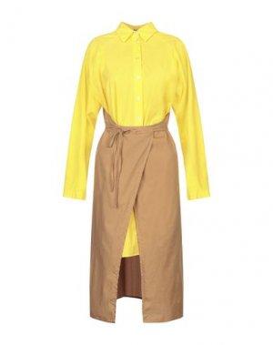 Короткое платье MARIOS. Цвет: желтый