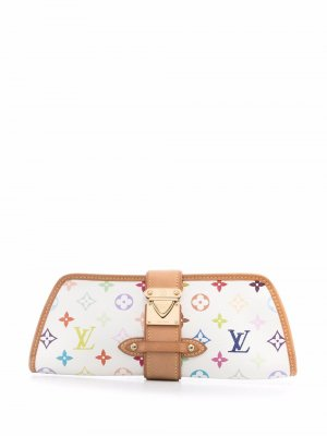 Клатч pre-owned с монограммой Louis Vuitton. Цвет: белый