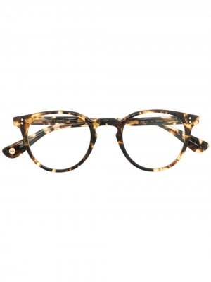 Очки Clement в оправе черепаховой расцветки Garrett Leight. Цвет: коричневый