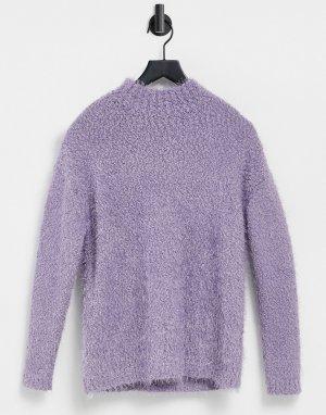 Сиреневый свитер с высоким воротником -Фиолетовый цвет BB Dakota