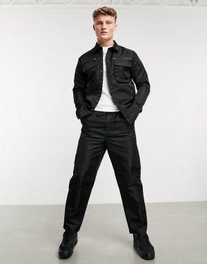 Брюки-карго от костюма из черного нейлона с блестками -Черный Native Youth