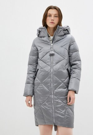Куртка утепленная Снежная Королева. Цвет: серебряный