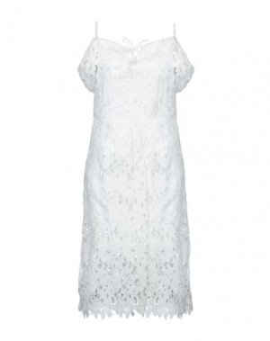 Платье до колена DEBY DEBO. Цвет: белый