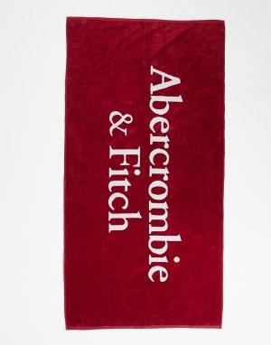 Красное пляжное полотенце с большим логотипом -Красный Abercrombie & Fitch