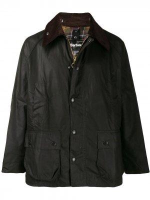 Легкая куртка с контрастным воротником Barbour. Цвет: зеленый
