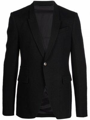 Пиджак строгого кроя Rick Owens. Цвет: черный