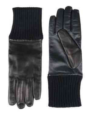 Перчатки ELEVENTY. Цвет: черный