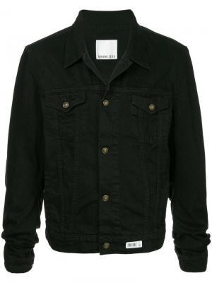 Джинсовая куртка с рукавами в стиле оверсайз Ground Zero. Цвет: черный