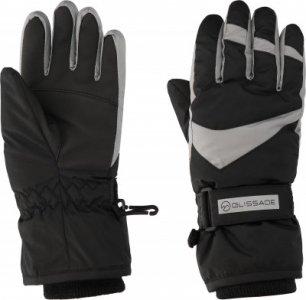 Перчатки для мальчиков , размер 6 Glissade. Цвет: серый