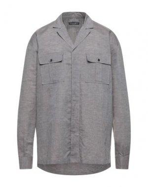 Джинсовая рубашка DOLCE & GABBANA. Цвет: голубиный серый