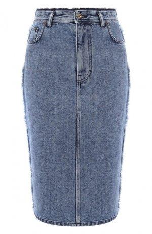 Джинсовая юбка Acne Studios. Цвет: синий