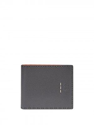 Бумажник с декоративной строчкой Fendi. Цвет: серый