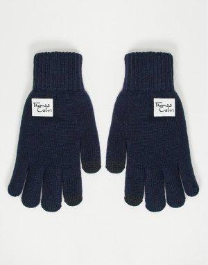 Перчатки -Темно-синий Thomas Calvi