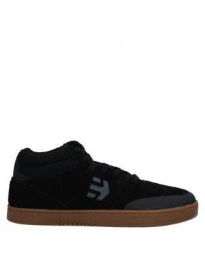 Высокие кеды и кроссовки ETNIES. Цвет: черный