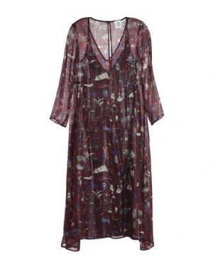 Платье длиной 3/4 ATTIC AND BARN. Цвет: красно-коричневый