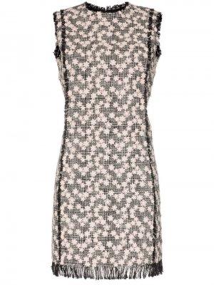 Твидовое платье мини Giambattista Valli. Цвет: черный