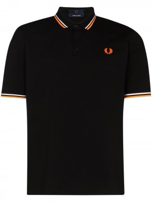 Рубашка поло Made in Japan из ткани пике Fred Perry. Цвет: черный