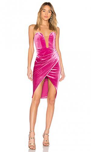 Бархатное вечернее платье joab Michael Costello. Цвет: розовый