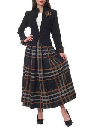 Комплект с юбкой Mannon. Цвет: черный, коричневый