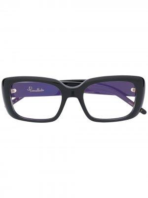 Очки в прямоугольной оправе Pomellato Eyewear. Цвет: черный