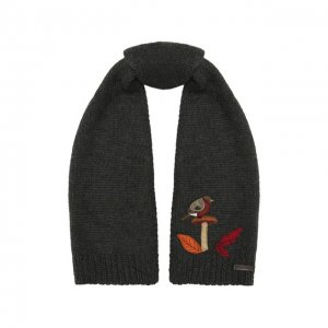 Шерстяной шарф Dolce & Gabbana. Цвет: серый