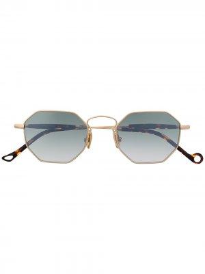 Солнцезащитные очки в восьмиугольной оправе Eyepetizer. Цвет: коричневый
