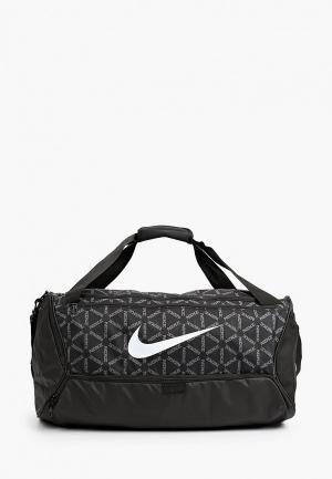 Сумка спортивная Nike NK BRSLA M DUFF-9.0 AOP2 FA21. Цвет: черный
