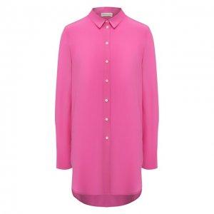 Шелковая рубашка By Malene Birger. Цвет: розовый