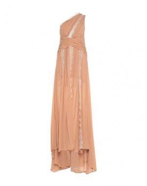 Длинное платье BABYLON. Цвет: светло-коричневый