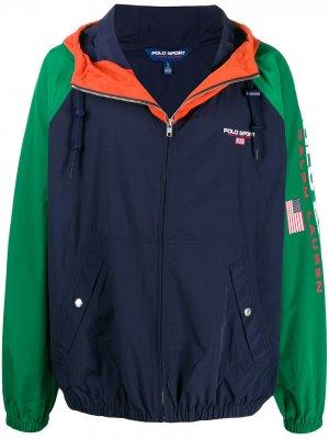 Куртка с принтом Polo Ralph Lauren. Цвет: синий