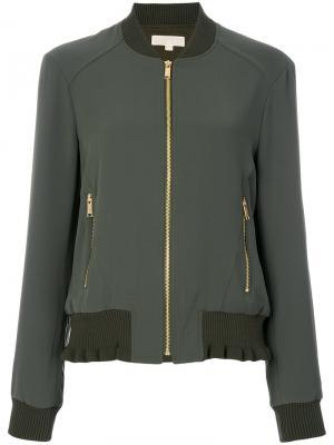 Куртка-бомбер Michael Kors. Цвет: зелёный