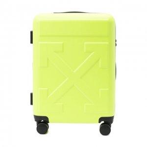 Чемодан Arrow Trolley Off-White. Цвет: жёлтый