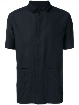 Рубашка с заостренным воротником Folk. Цвет: синий